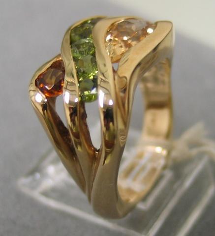 View 3 Multi Gemstone Ring