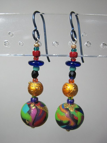 POLYMER CLAY BEADED EARRINGS