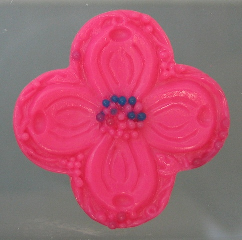 WAX MODEL OF DOGWOOD QUATREFOIL PENDANT