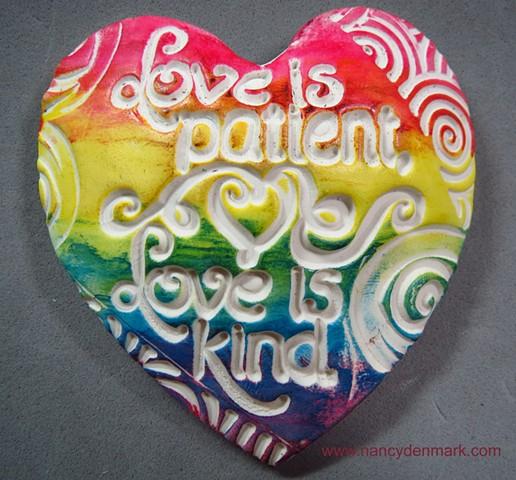 Hand Full of Love heart by Nancy Denmark