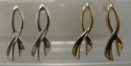 sterling silver ichthus Christian fish earrings by Nancy Denmark