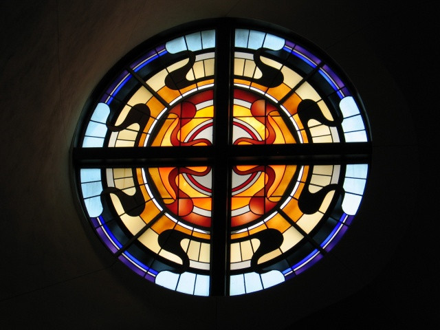 Stained glass window at Episcopal Church of the Epiphany, Houston TX