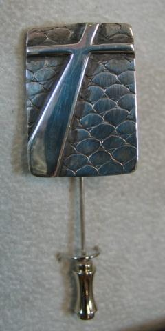 sterling silver cross stickpin © Nancy Denmark