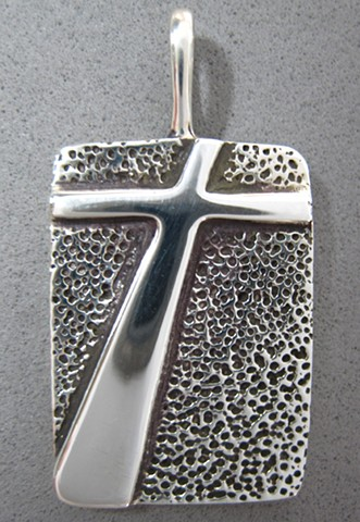 shadow of the cross silver cross pendant ©Nancy Denmark