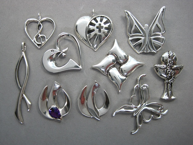 sterling silver Christian symbol jewelry designs ©Nancy Denmark