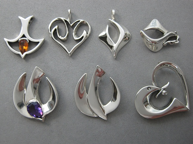 sterling silver Christian dove jewelry designs ©Nancy Denmark