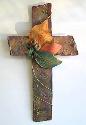 Copper & Clay Wall Cross