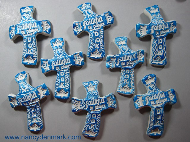 Special order hand crosses made by Nancy Denmark for a DOK group