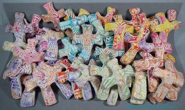 Hand crosses made to order for St. Paul's Episcopal Church, Orange, TX by Nancy Denmark