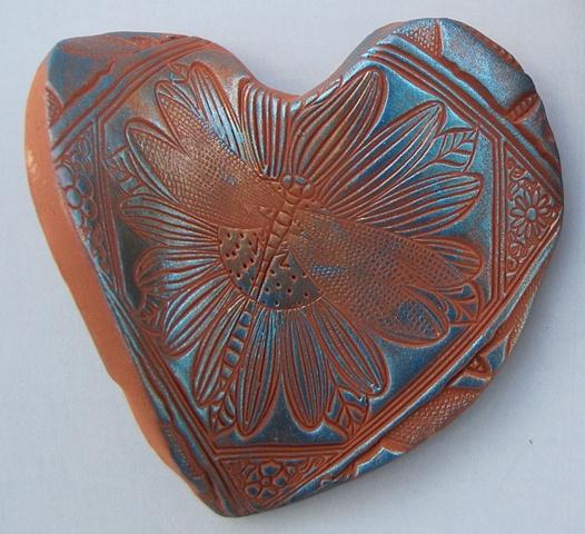 handful of love polymer clay heart