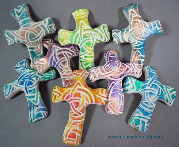 celtic knot hand crosses by Nancy Denmark