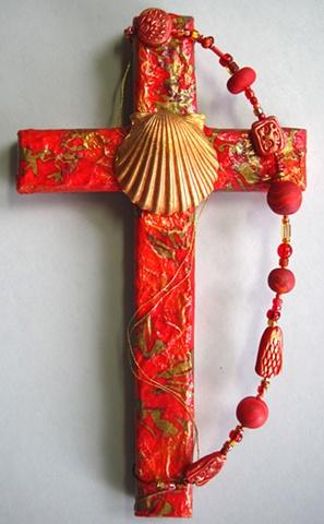 baptismal shell wall cross