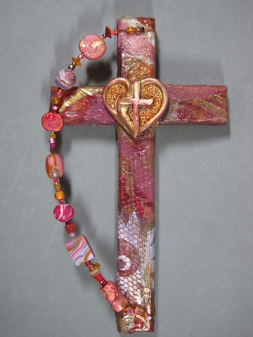 heart with flame cross by Nancy Denmark Patti Reed