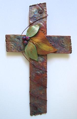 Copper & Clay Wall Cross