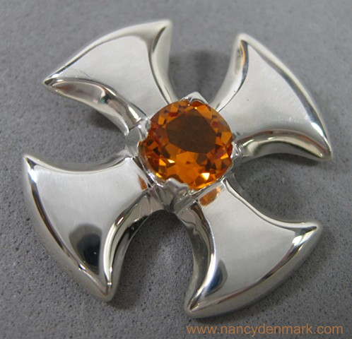 Small Canterbury Cross with Citrine ©Nancy Denmark