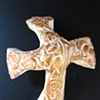 GOLD GOOD SHEPHERD HAND HELD CROSS #1