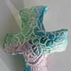 TEAL & TURQUOISE HAND CROSS