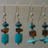 4 PAIR OF TURQUOISE & TIGEREYE EARRINGS