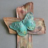 TEAL BUTTERFLY SOLD