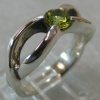 STERLING RING W/ PERIDOT