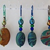 3 PAIR POLYMER CLAY BEADED EARRINGS