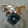 BLUE TOPAZ IN STERLING RING AR5 VIEW 1