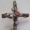 SMALL BEADED COPPER WALL CROSS