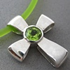 H23 THE GIFT OF GOD CROSS  W/ FACETED PERIDOT