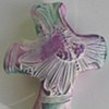 PURPLE & GREEN HAND CROSS