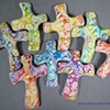 DRAGONFLIES AND SWIRLS  HAND CROSSES