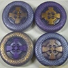 ROUND CELTIC CROSS SHAPE SOAPS  LAVENDER SANDALWOOD VANILLA