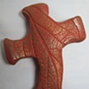 LEAF IMPRESSED HAND CROSS 2