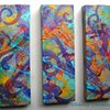LYRICAL CHAOS TRYPTIC  CANVAS SET OF 3