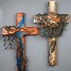 2 FISHERS OF MEN COLLAGE WALL CROSSES