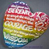 RAINBOW SERENITY PRAYER HAND FULL OF LOVE HEART