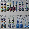 DISPLAY RACK OF  POLYMER CLAY BEADED EARRINGS