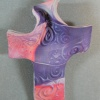PEACH PURPLE HAND HELD CROSS 1