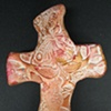 RED & GOLD HAND CROSS