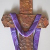 COPPER CROSS WITH PURPLE SHROUD _2
