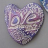 LAVENDER LOVE NEVER FAILS HAND HEART