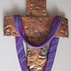 COPPER CROSS WITH PURPLE SHROUD_1