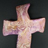 PURPLE & GOLD HAND CROSS