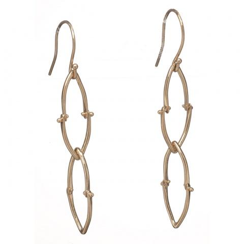 Wishbone Earrings - Gold