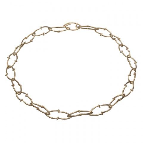 Wishbone Necklace - Gold