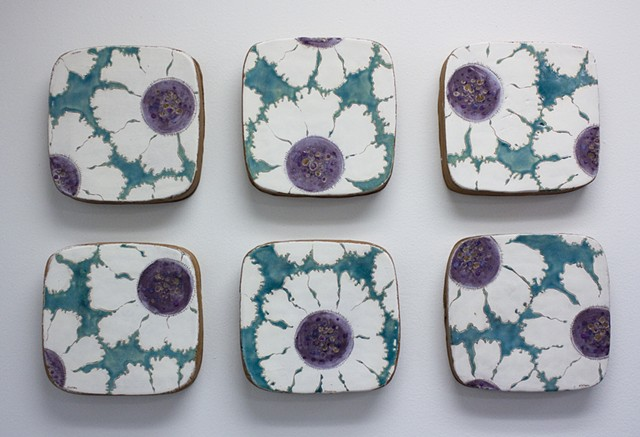 Flower Tiles - Purple