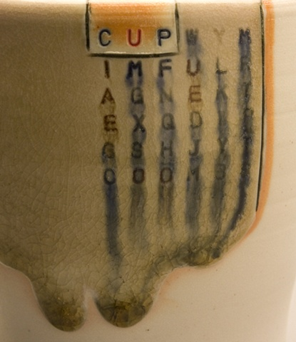 Cup with handle detail