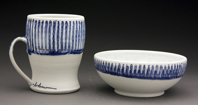 Cup with handle and Bowl
