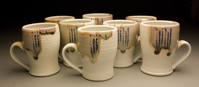 8 Cups with Handles