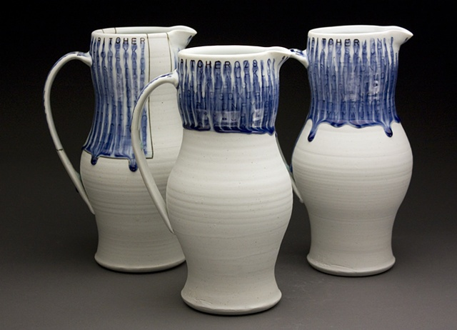 Three pitchers