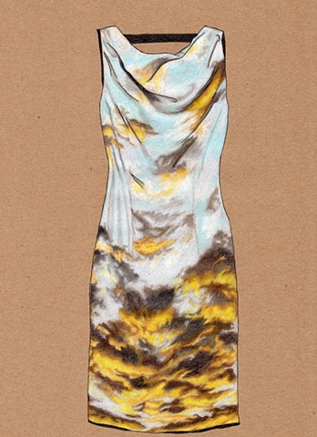 Dress #26 Ascending Sunset Dress